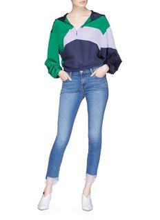 J Brand '811' organza cuff skinny jeans