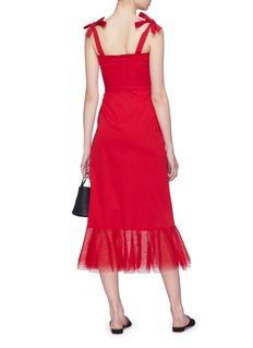 STAUD 'Langdon' tie strap tulle peplum dress