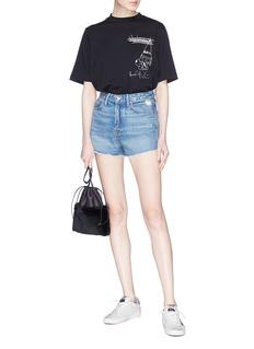 GRLFRND 'Cindy' frayed cuff denim shorts