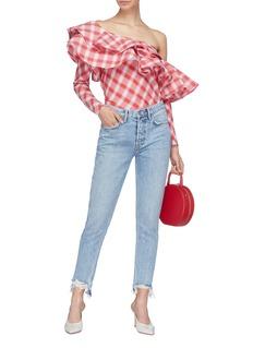 GRLFRND 'Karolina' ripped cuff jeans