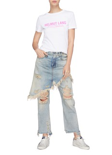 R13 'Double Classic' skirt overlay jeans