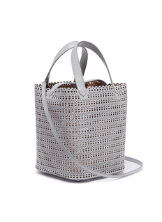 Alaïa 'Vienne' mini geometric lasercut leather bucket bag