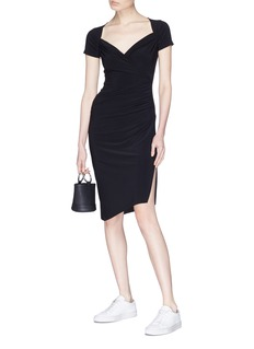 Norma Kamali Shirred jersey dress