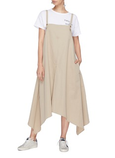 bassike Asymmetric pinafore trench dress