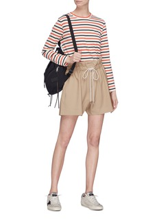 bassike Drawstring paperbag suiting shorts