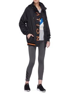 P.E Nation 'Off The Block' logo print hooded jacket