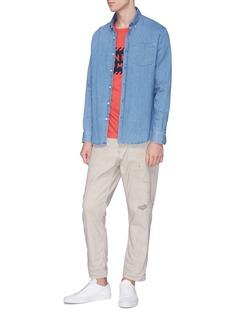 DENHAM Rip-and-repair jeans