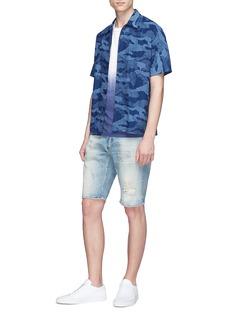 DENHAM 'Razor' ripped slim fit denim shorts
