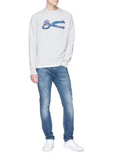 DENHAM 'Wave Sweat' logo embroidered sweatshirt