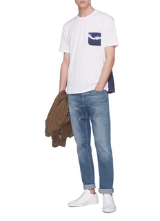 Denham 'Amnesia' tie-dye pocket T-shirt