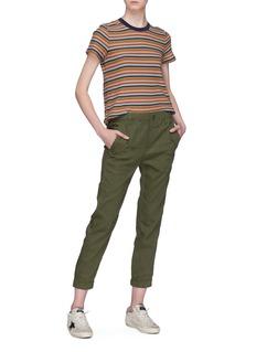 James Perse 'Vintage Boy' stripe cotton-linen knit T-shirt