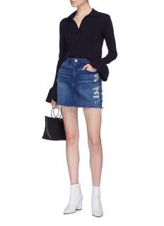 3x1 'Celine' ripped denim skirt