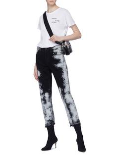 3x1 'W3 Higher Ground Crop' paint splatter jeans