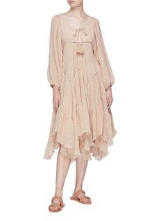 Zimmermann 'Bayou' blouson sleeve chevron tiered dress