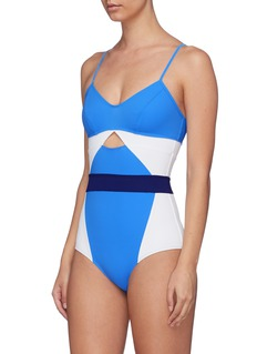 Flagpole Swim 'Joellen' cutout colourblock one-piece swimsuit