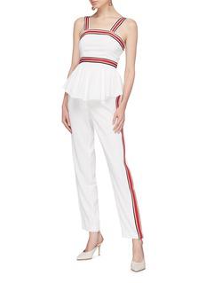 C/Meo Collective  'Be Moved' stripe border sleeveless peplum top