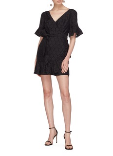 C/Meo Collective  'Magnetise' open back ruffle circular fil coupé dress