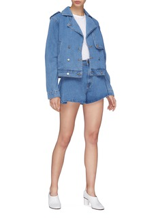 C/Meo Collective  'Instruction' flared denim shorts