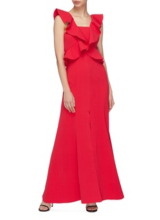 C/Meo Collective  'Elation' ruffle split front gown
