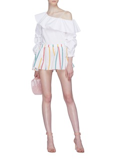 Caroline Constas Stripe flared shorts