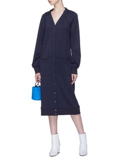 Tibi 'Marsha' convertible patch pocket cardigan dress