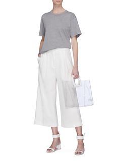Tibi 'Mora' stripe outseam suiting culottes