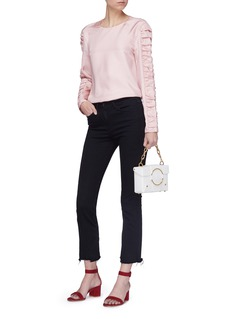 Tibi Ruched sleeve top