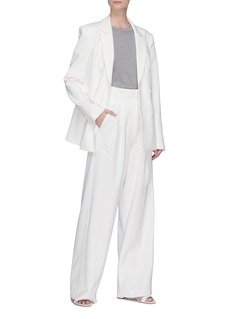 Tibi 'Mora' stripe outseam wide leg paperbag suiting pants