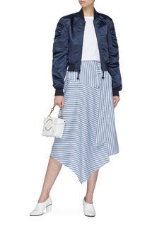 Tibi Buckled stripe handkerchief hem skirt