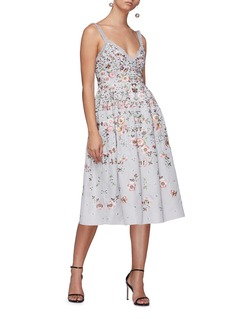 Needle & Thread Butterfly rose embroidered dress