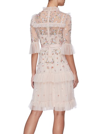 Back View - Click To Enlarge - NEEDLE & THREAD - 'Lustre' floral embellished tiered dress