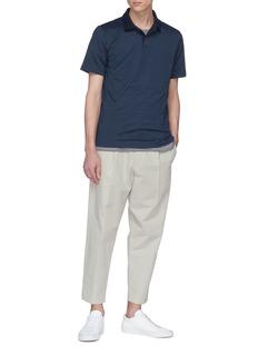 Theory 'Standard' geometric jacquard polo shirt