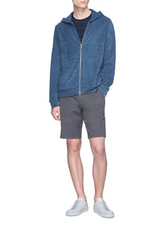 Theory 'Layer' Pima cotton terry zip hoodie