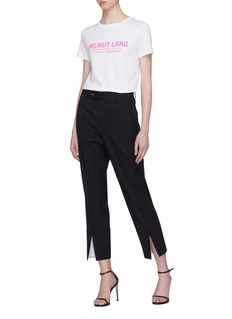 Helmut Lang Split cuff virgin wool pants