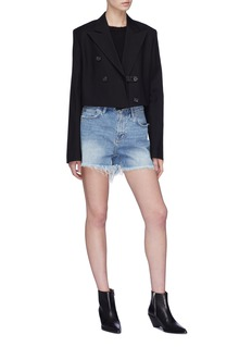 Helmut Lang Cropped double breasted blazer