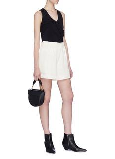Helmut Lang Elastic waist silk blend shorts