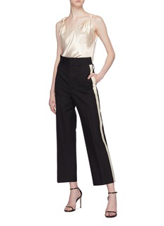 Helmut Lang Staggered waist stripe outseam pants