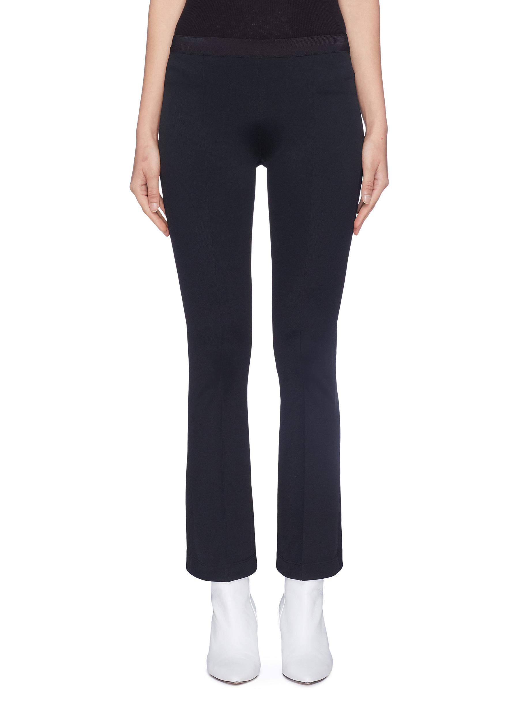 Cropped flared leggings by Helmut Lang
