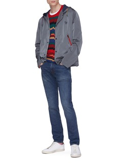 PS by Paul Smith Zebra embroidered hooded jacket