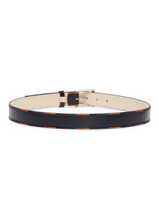 Paul Smith Stripe border leather belt