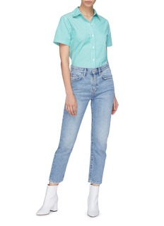 Current/Elliott 'The Vintage' slogan print cropped jeans