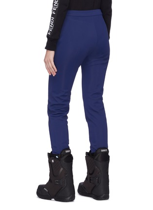 Back View - Click To Enlarge - Fendi Sport - Velvet stripe stirrup ski pants