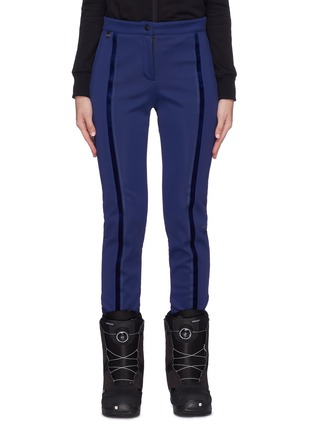 Main View - Click To Enlarge - Fendi Sport - Velvet stripe stirrup ski pants