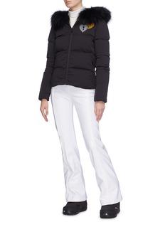 Fendi Sport Velvet stripe zip cuff ski pants