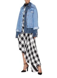 Monse Colourblock layered denim jacket