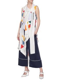 Monse Geometric print scarf drape silk twill sleeveless top