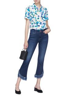 Equipment 'Betty' floral print silk crepe shirt