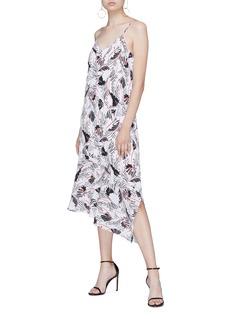 Equipment 'Jada' tropical print asymmetric silk crepe dress