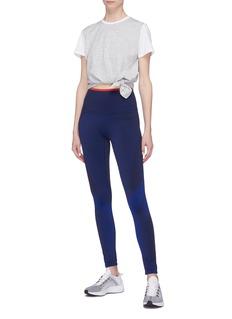 LNDR 'Tuck' tie-up waist COOLMAX® cropped T-shirt