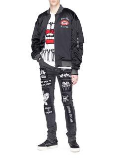Haculla Mix graphic appliqué jeans